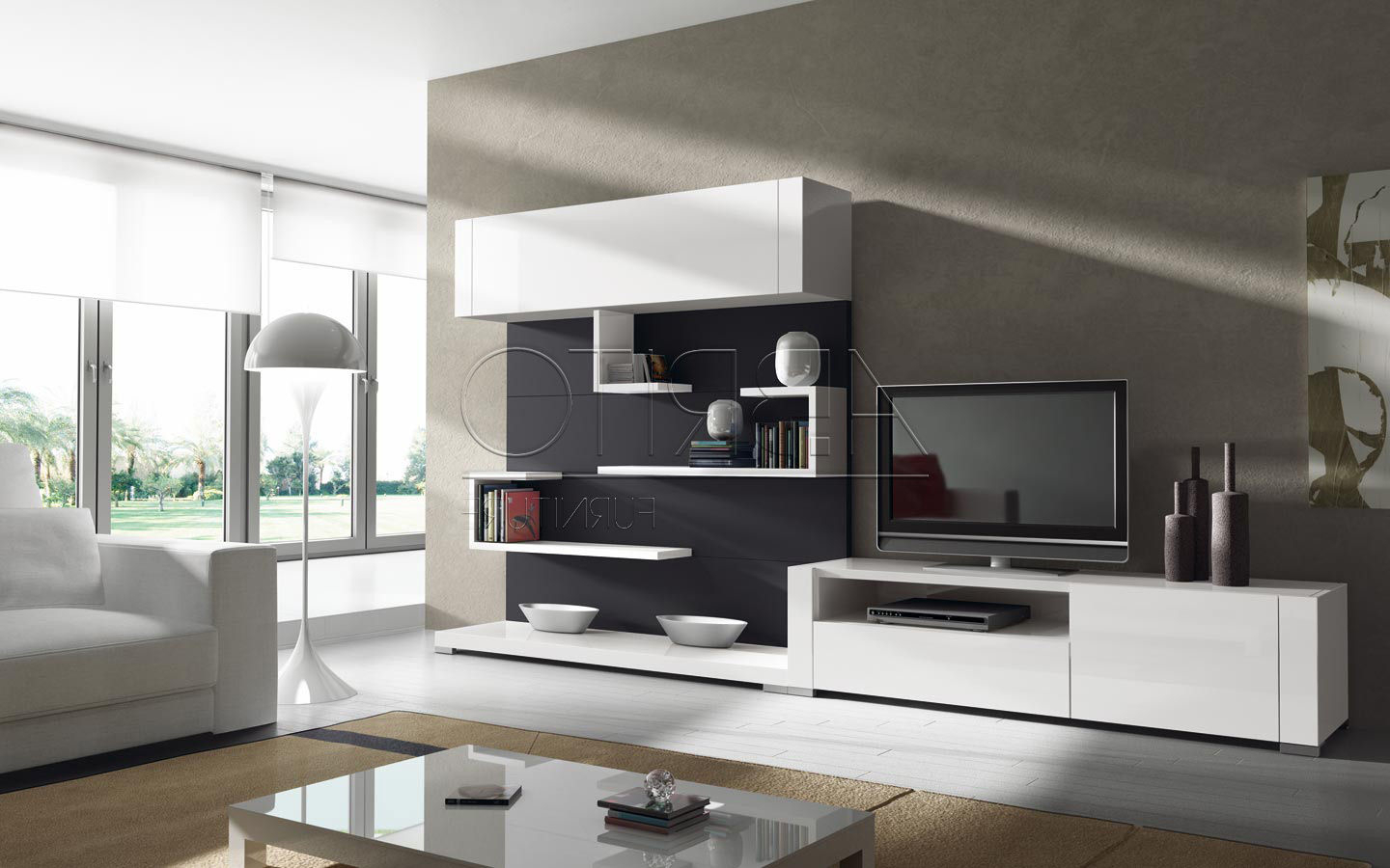 Modern Tv Units Pertaining To Newest Modern Contemporary Tv Wall Units Designs — All Contemporary Design (View 8 of 20)