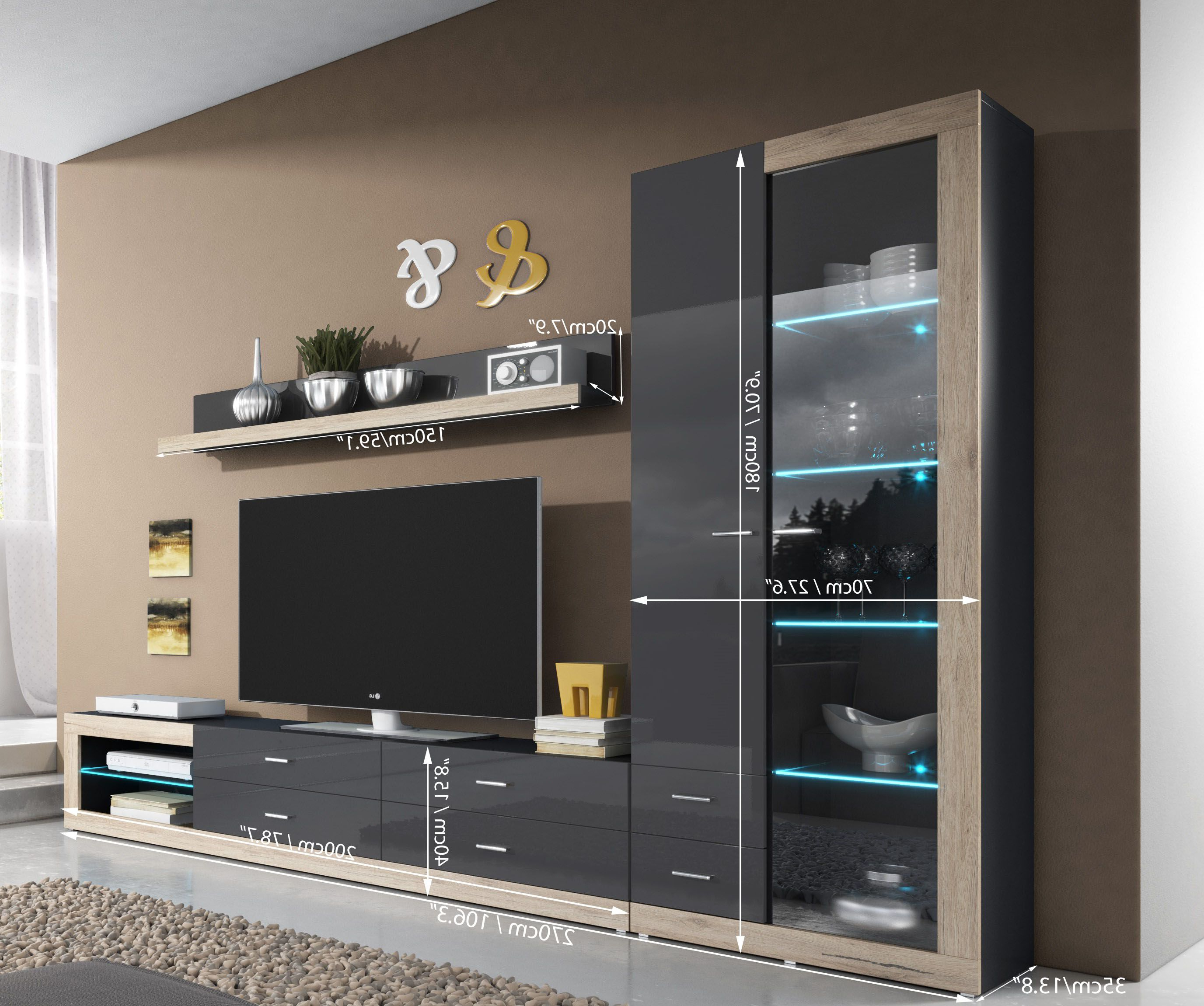 Modern Wall Units In Recent On The Wall Tv Units (View 5 of 20)