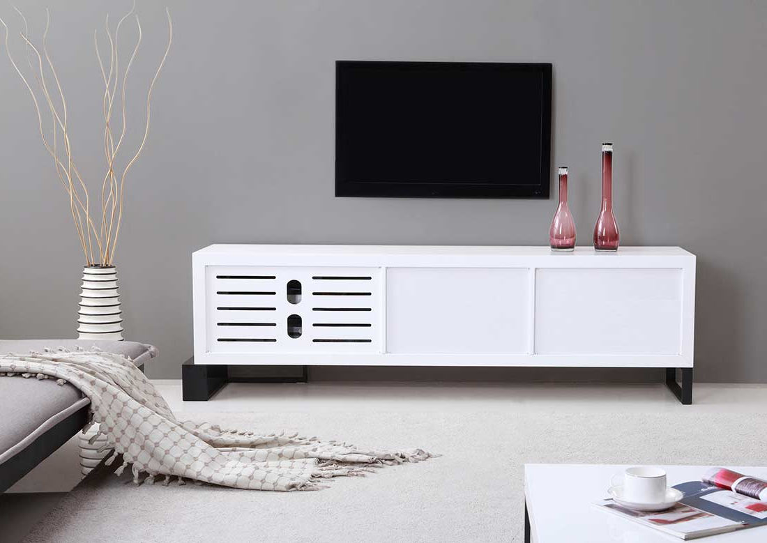 Modern White Lacquer Tv Stands In Most Recently Released Extra Long Modern White Tv Stand Bm  (View 11 of 20)