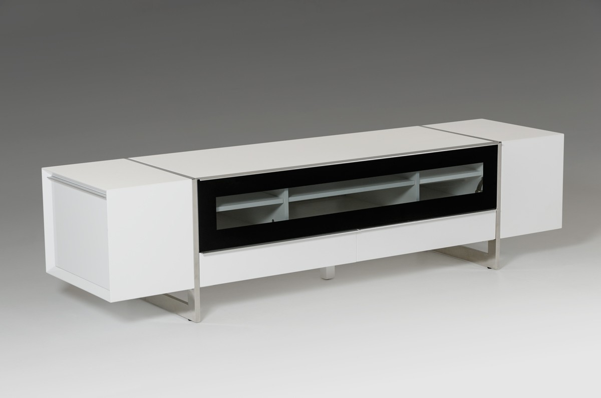 Modern White Lacquer Tv Stands Throughout 2018 Lorena Modern White Tv Stand (View 12 of 20)