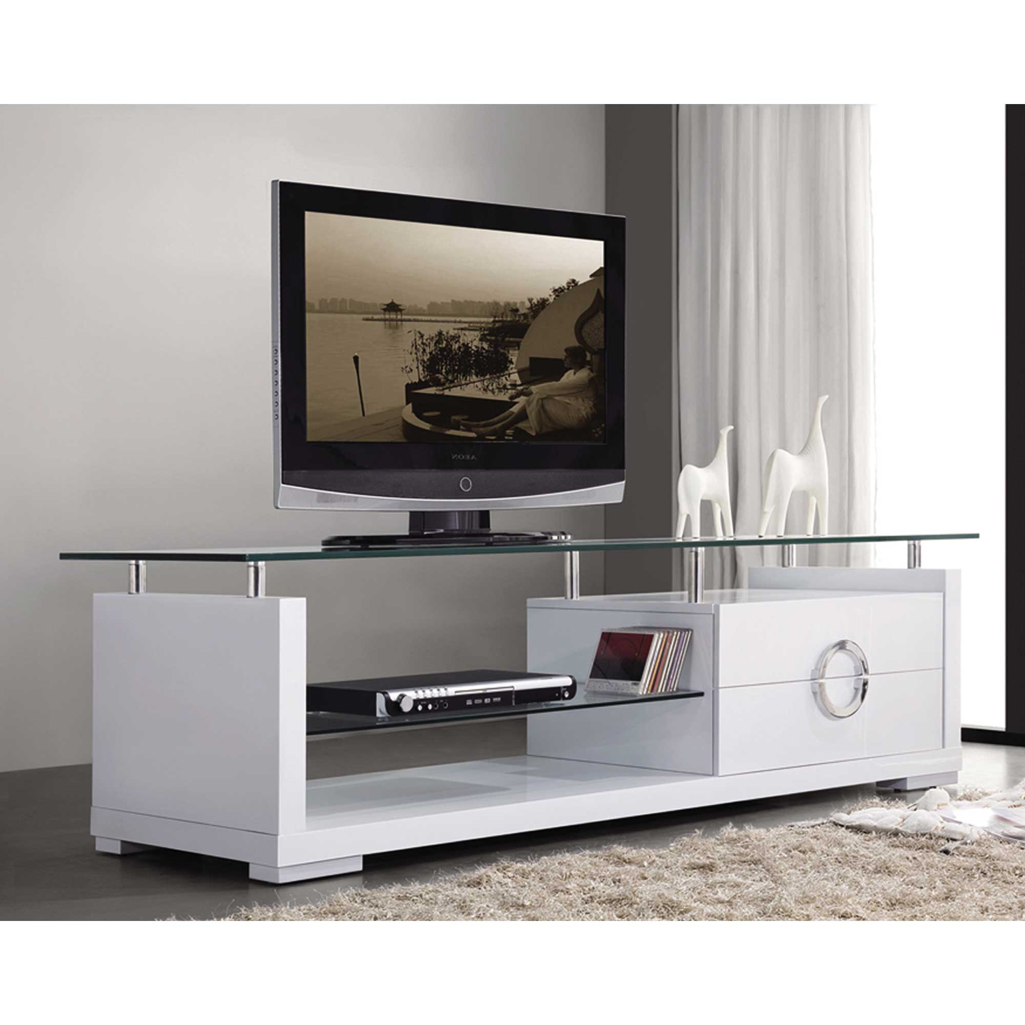 Modern White Tv Stands With Favorite Modern White Tv Stand – Home Deco (View 2 of 20)