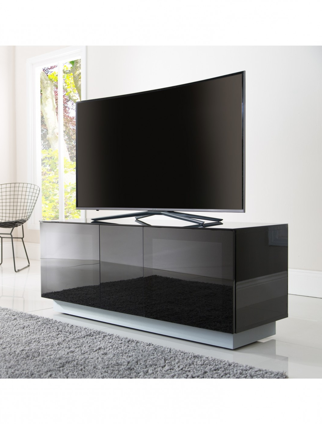 Most Current Alphason Emt1250Xl Blk Element Modular Tv Stand (View 15 of 20)