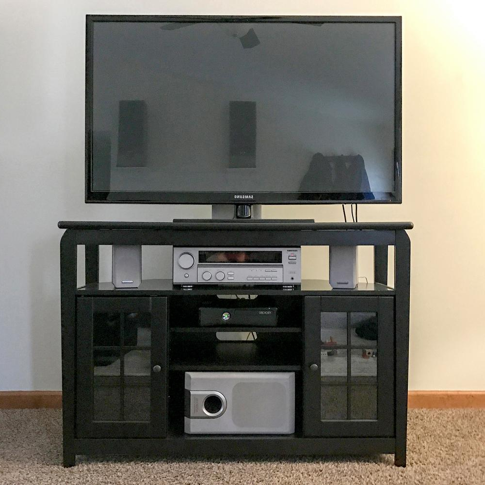 Most Current Amerihome 46 In Wood Corner Television Stand Black With 175 Lb In Large Corner Tv Stands (View 11 of 20)
