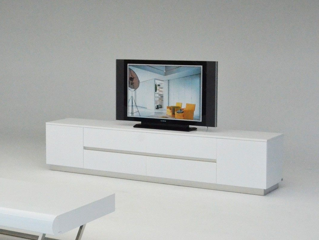 Most Current A&x Skyline Modern White Crocodile Tv Entertainment Center (View 12 of 20)