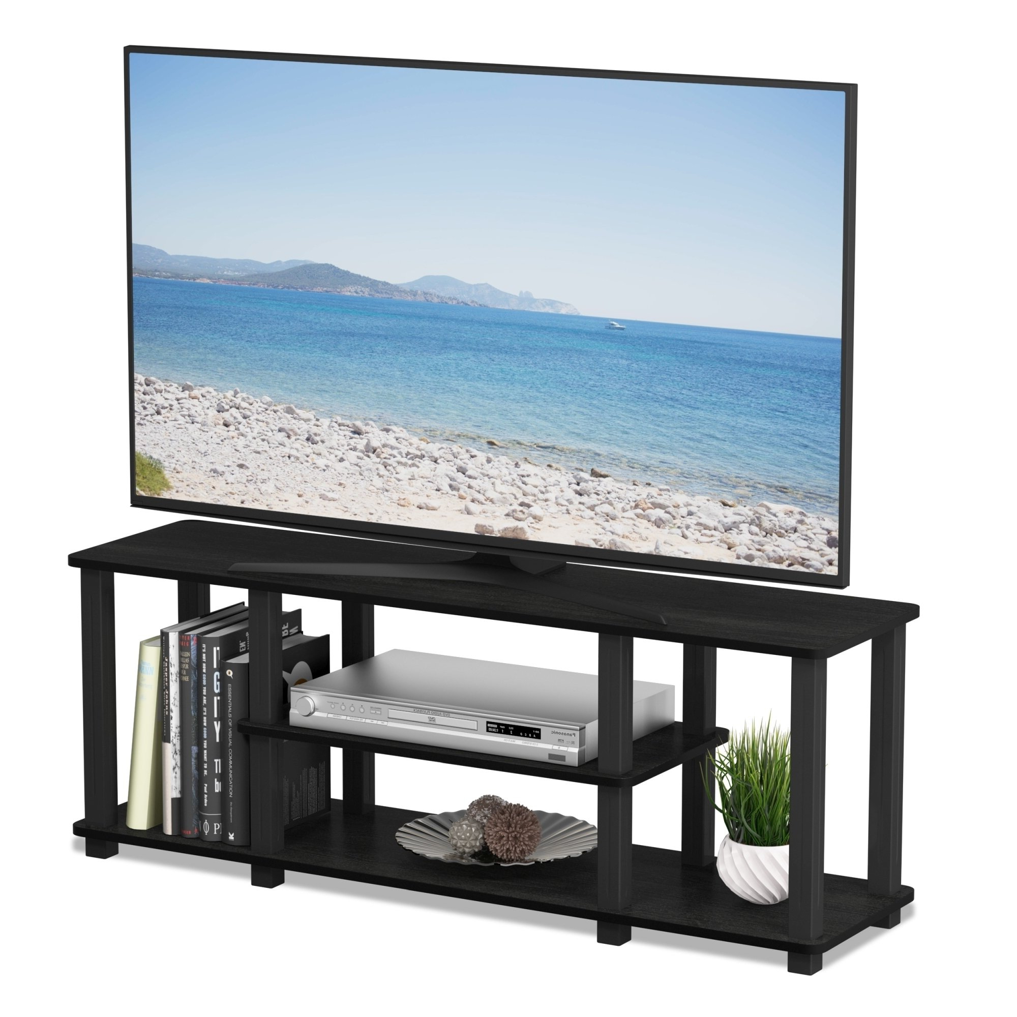 Most Current Casey Umber 66 Inch Tv Stands Regarding Shop Porch & Den Stuyvesant Open Shelves 3 Tier Entertainment Tv (View 12 of 20)