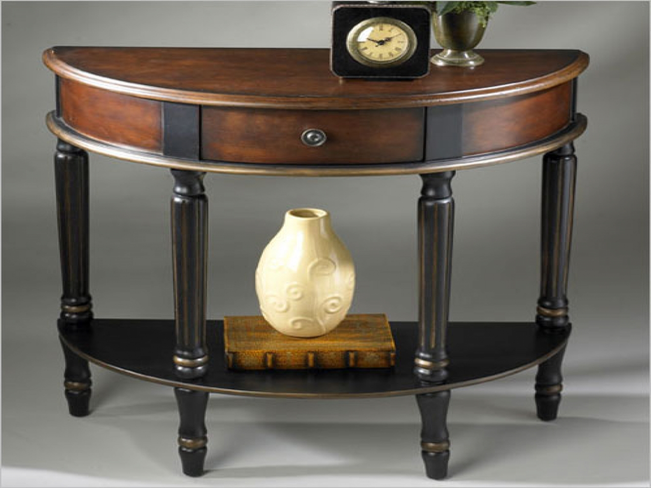 Most Current Clairemont Demilune Console Tables Pertaining To Wall Decoration Tips, Demilune Console Table Clairemont Demilune (View 15 of 20)