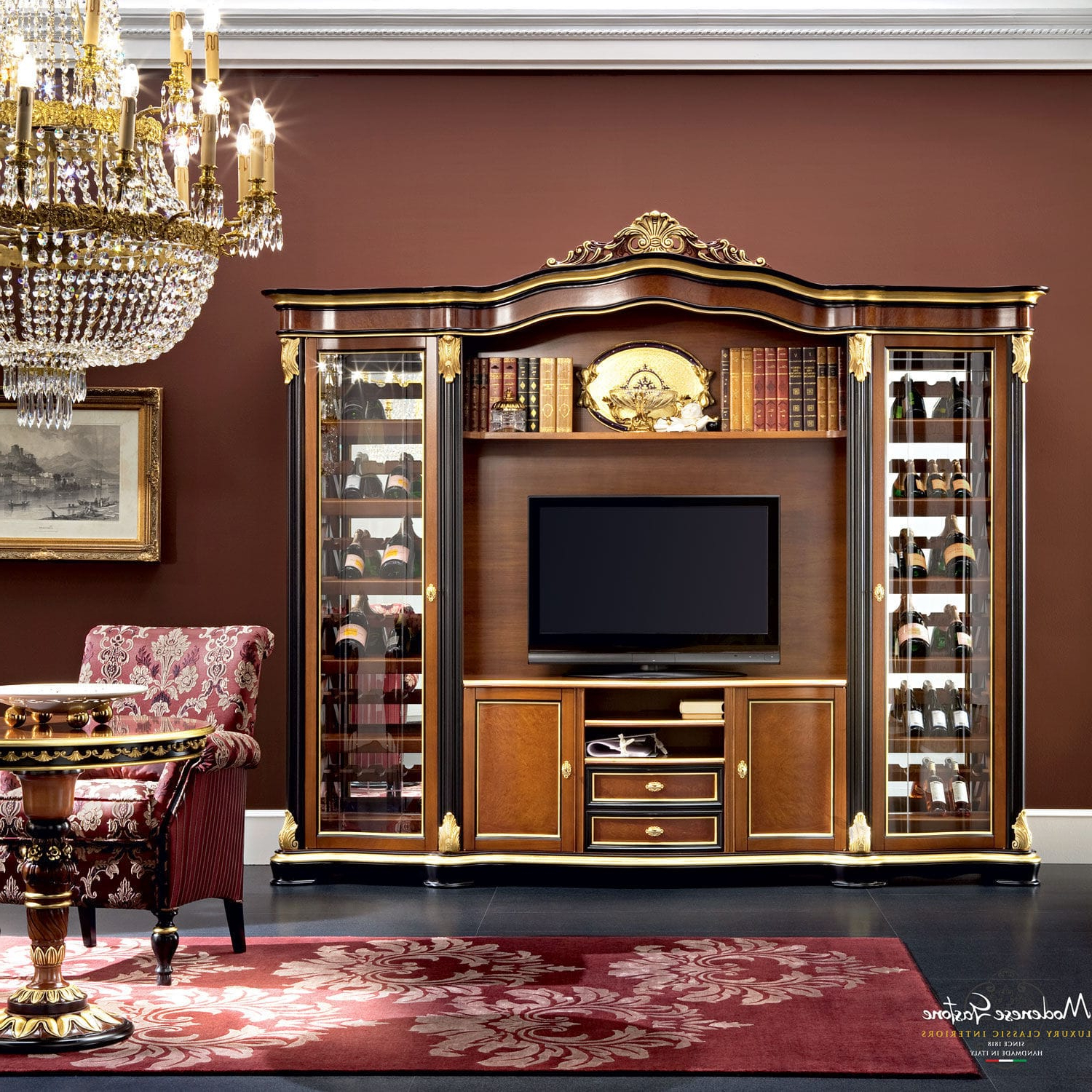 Most Current Classic Tv Cabinet / Solid Wood – Bella Vita – Modenese Gastone Regarding Classic Tv Cabinets (View 15 of 20)