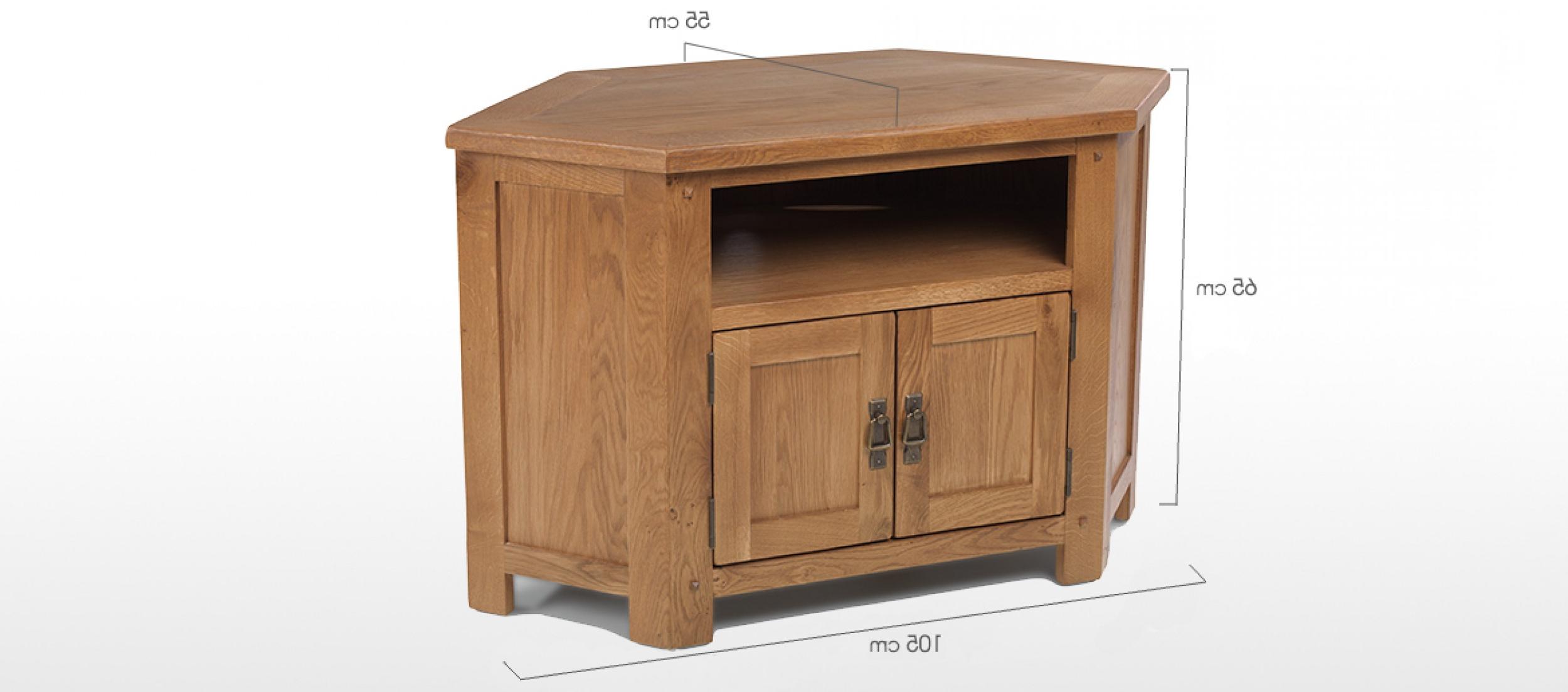 Most Current Dark Wood Corner Tv Cabinets Regarding Rustic Oak Corner Tv Cabinet (View 3 of 20)