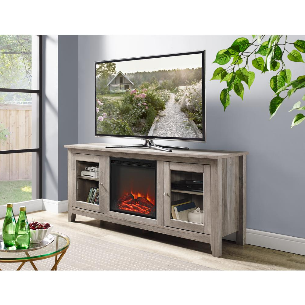 Most Current Grey Wood Tv Stands For Walker Edison Furniture Company 58 In (View 5 of 20)