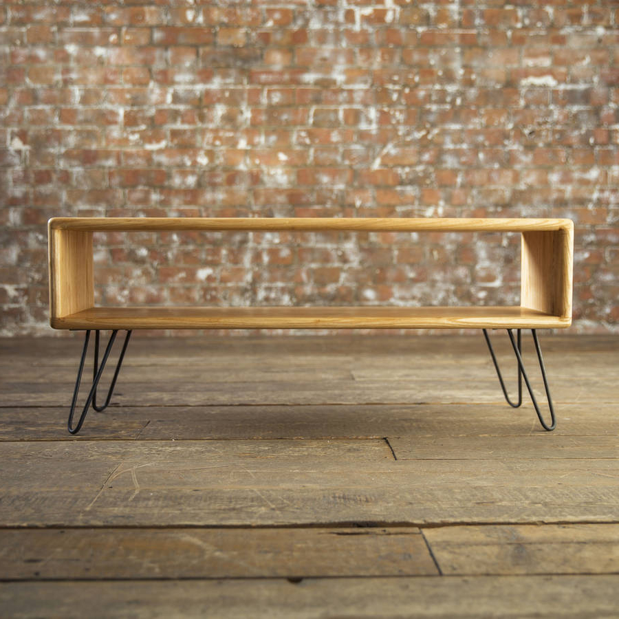 Most Current Hairpin Leg Tv Stands With Regard To Ash Midcentury Modern Hairpin Leg Tv Standbiggs & Quail (View 6 of 20)