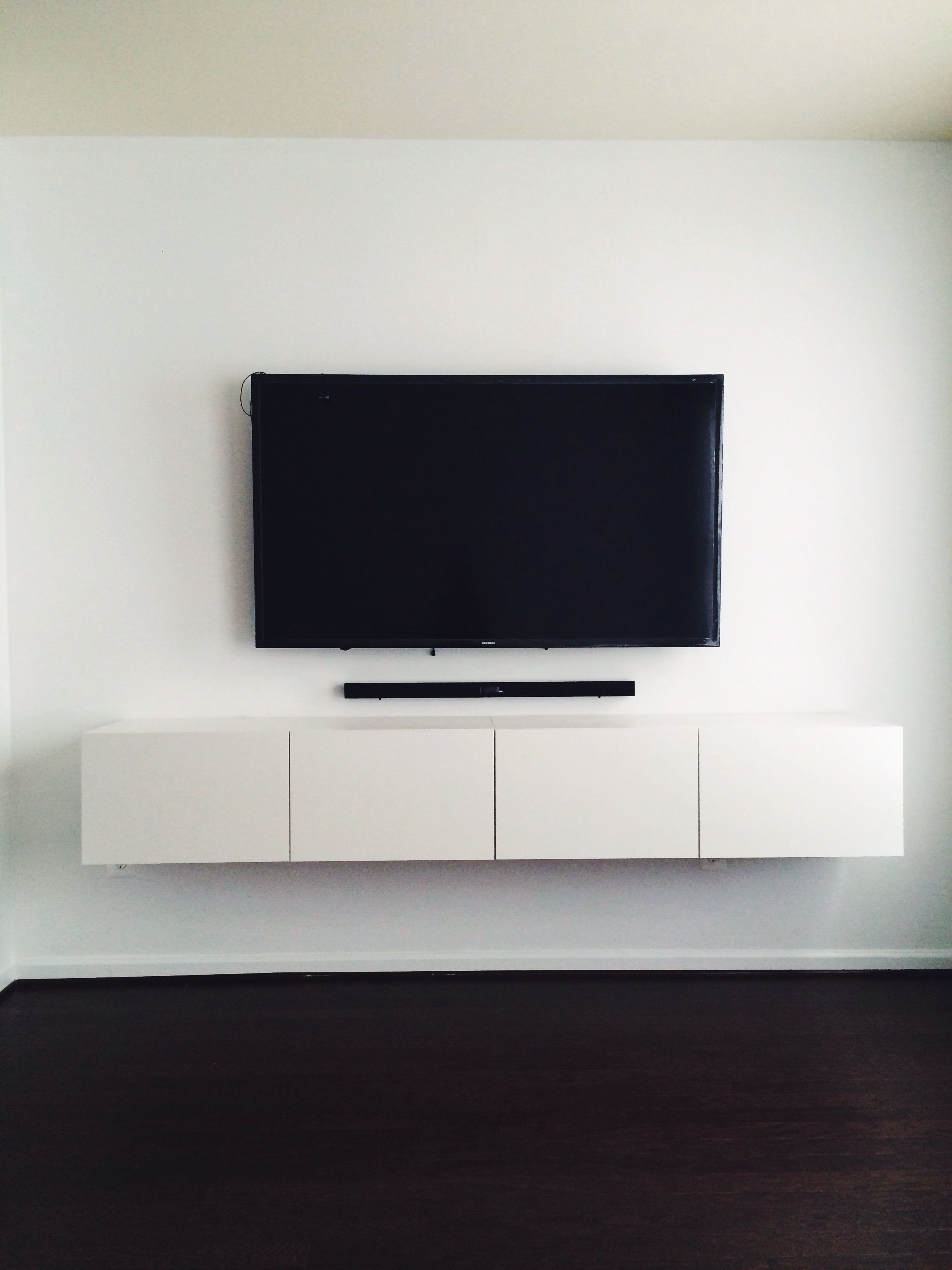 Most Current Ikea Bestå Media Console. Mounted Tv With Hidden Wires. Now That's Within Ikea Wall Mounted Tv Cabinets (Gallery 2 of 20)