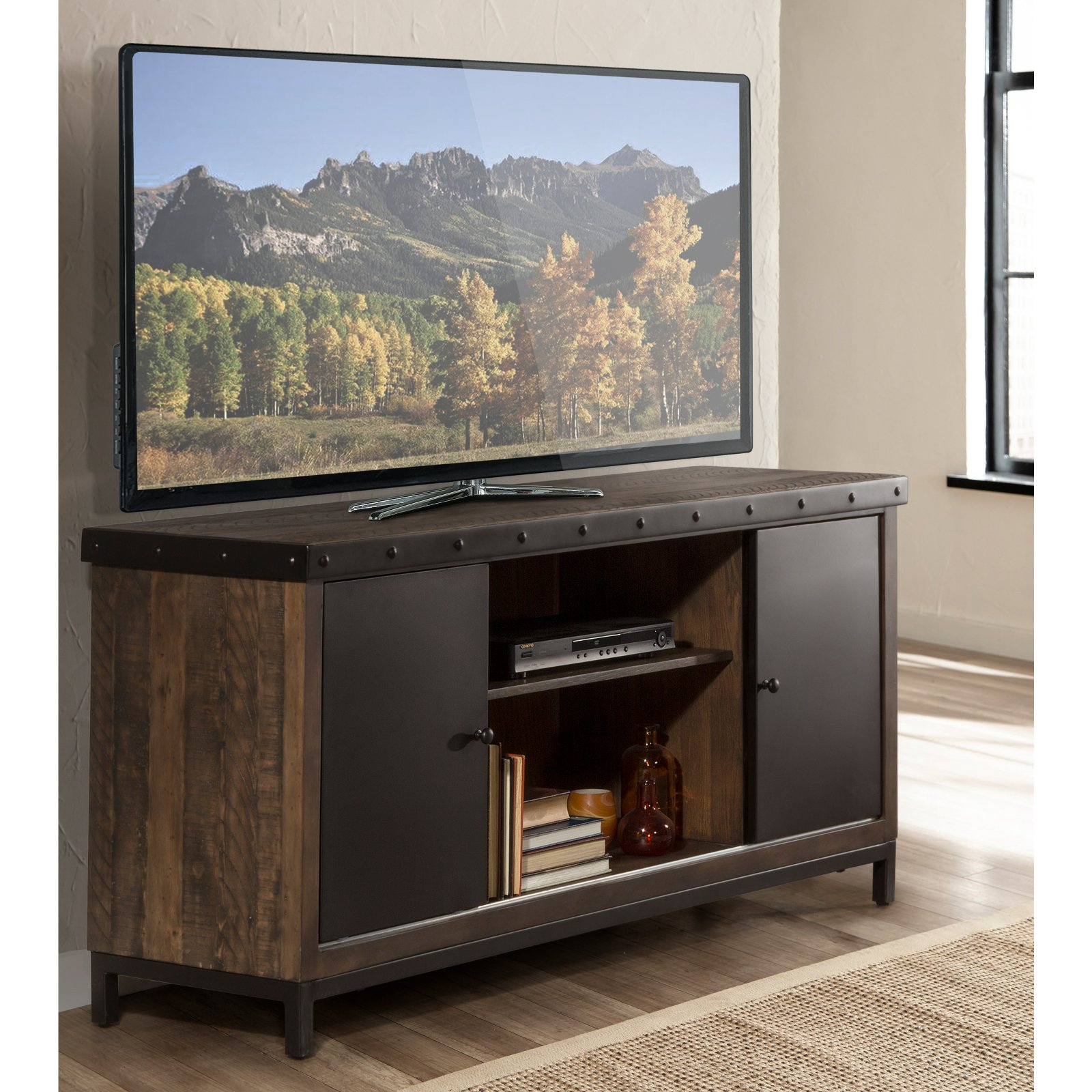 Most Current Maddy 60 Inch Tv Stands For Hillsdale Furniture Jennings 64 In. Entertainment Tv Stand In 2019 (Gallery 6 of 20)