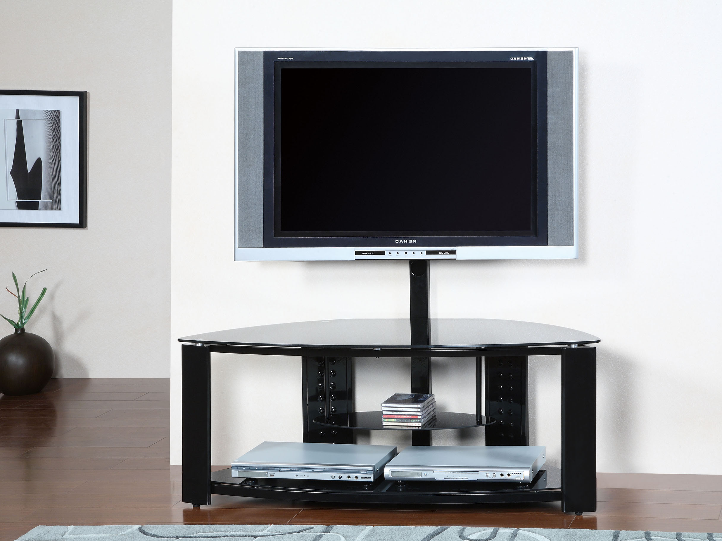 Most Current Modern Glass Corner Tv Stand With Mount Of Beautiful Corner Tv Stand Pertaining To Contemporary Glass Tv Stands (Gallery 14 of 20)