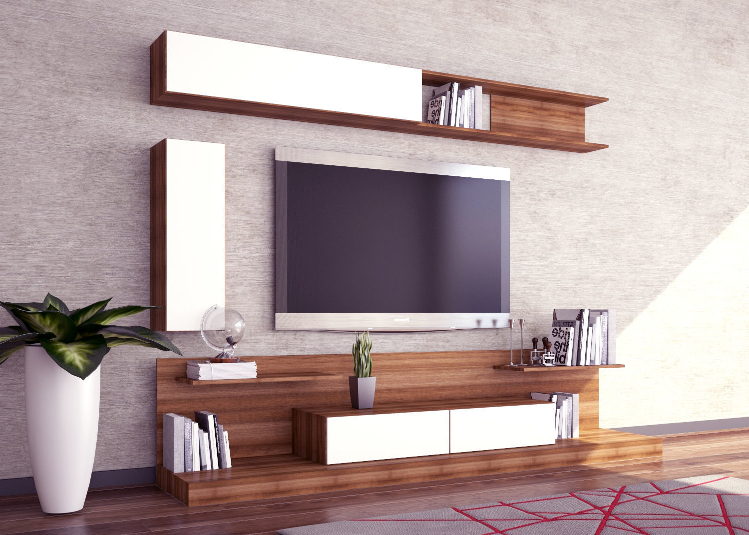 Most Current Modern Tv Unit Design 3D Model (View 20 of 20)