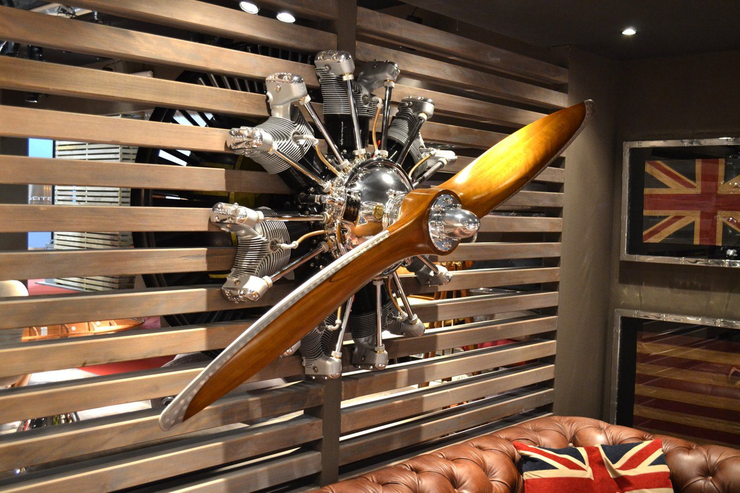 Most Current Moraga Live Edge Plasma Console Tables Throughout Wall Hanged Jacobs Radial Engine – Aeronautic Collection (View 11 of 20)