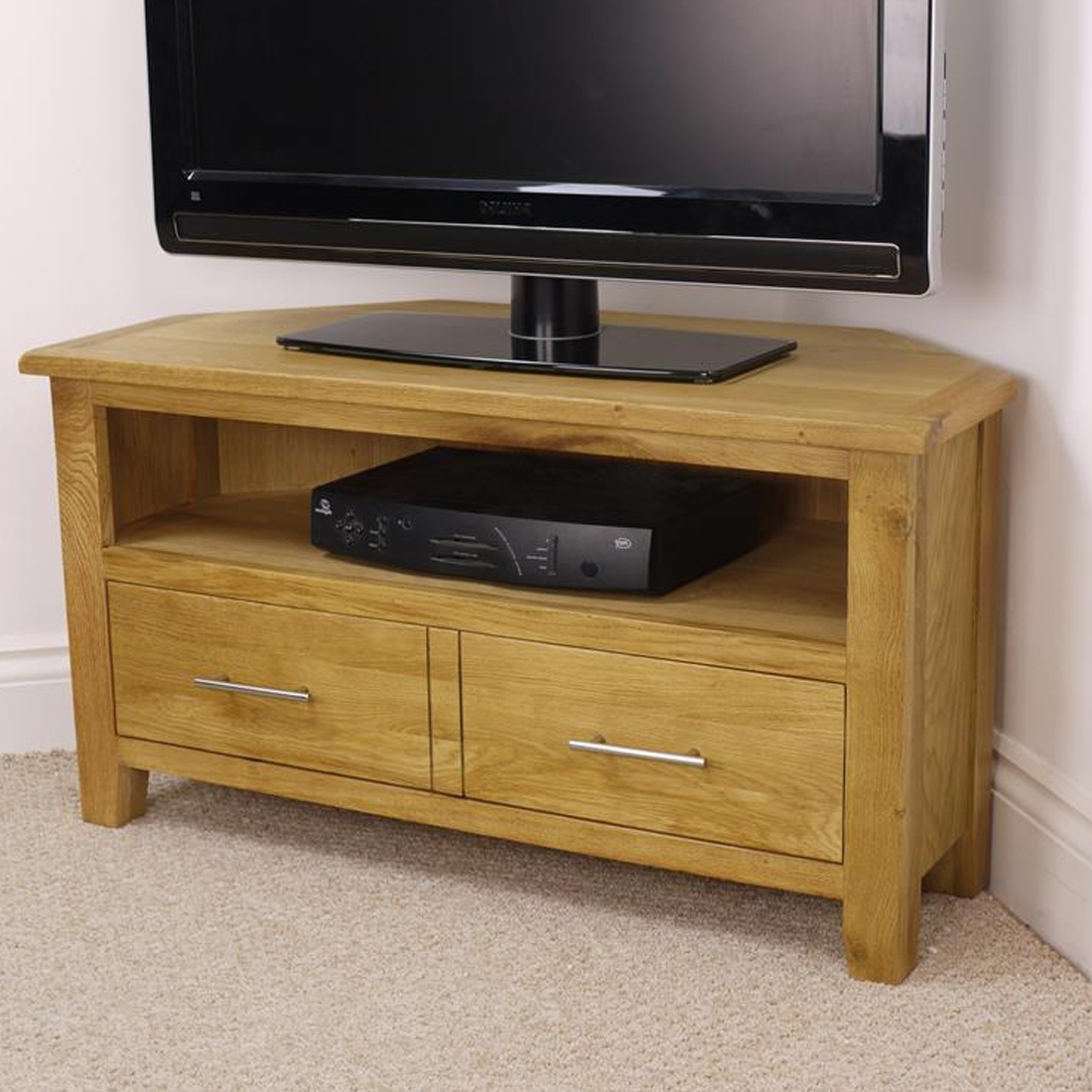 Most Current Real Wood Corner Tv Stands Intended For Corner Tv Stand And Its Benefits – Furnish Ideas (View 2 of 20)