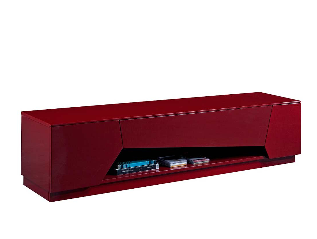 Most Current Red Gloss Tv Cabinets With Red High Gloss Tv Base Sj (View 3 of 20)