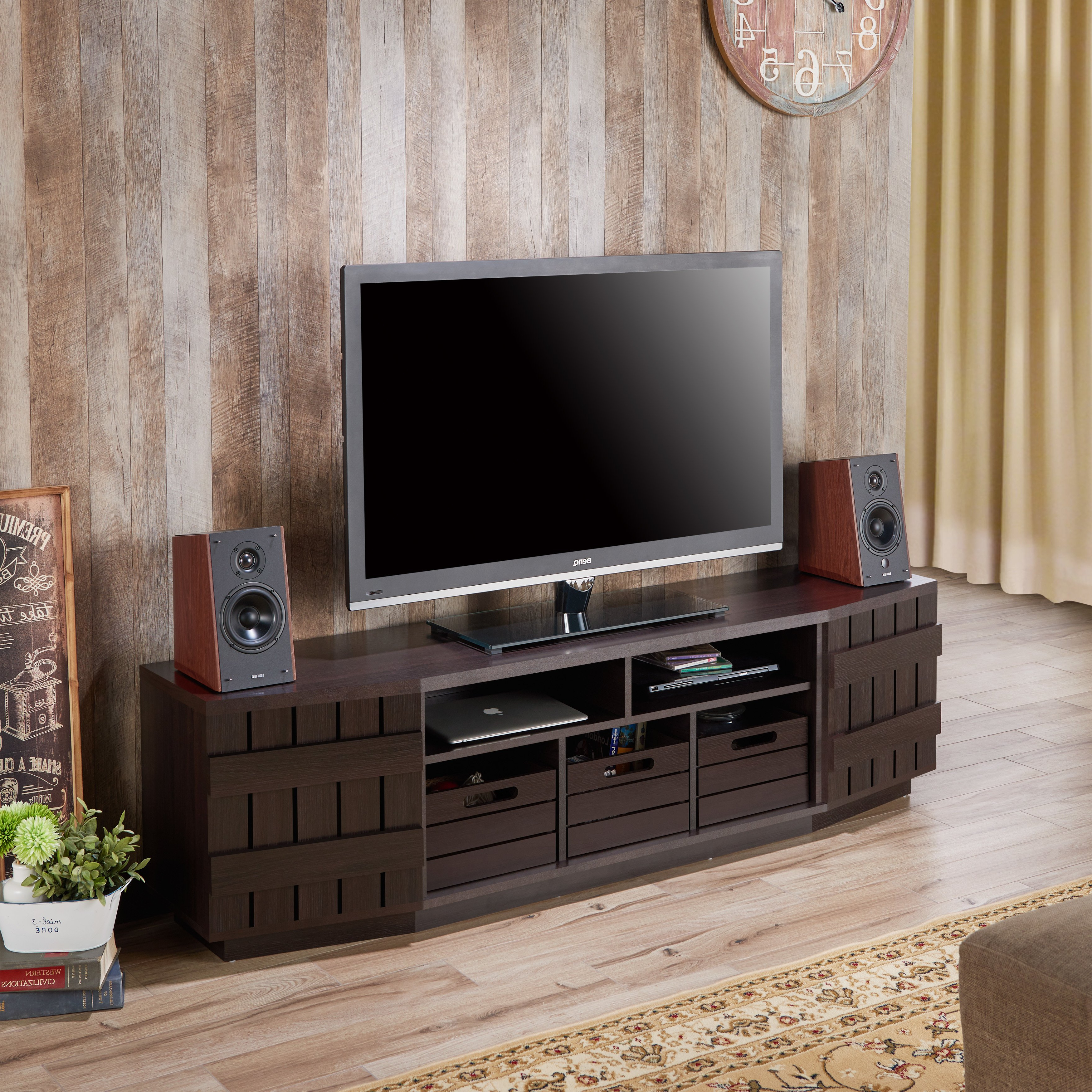Most Current Shop Furniture Of America Harla Rustic 70 Inch Tv Stand With With Regard To Casey Umber 54 Inch Tv Stands (View 13 of 20)