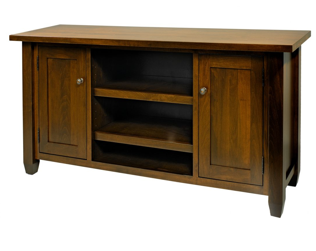 Most Current Solid Maple Tv Stand Light Oak Honey With Media Storage Sauder Intended For Maple Tv Stands For Flat Screens (View 13 of 20)