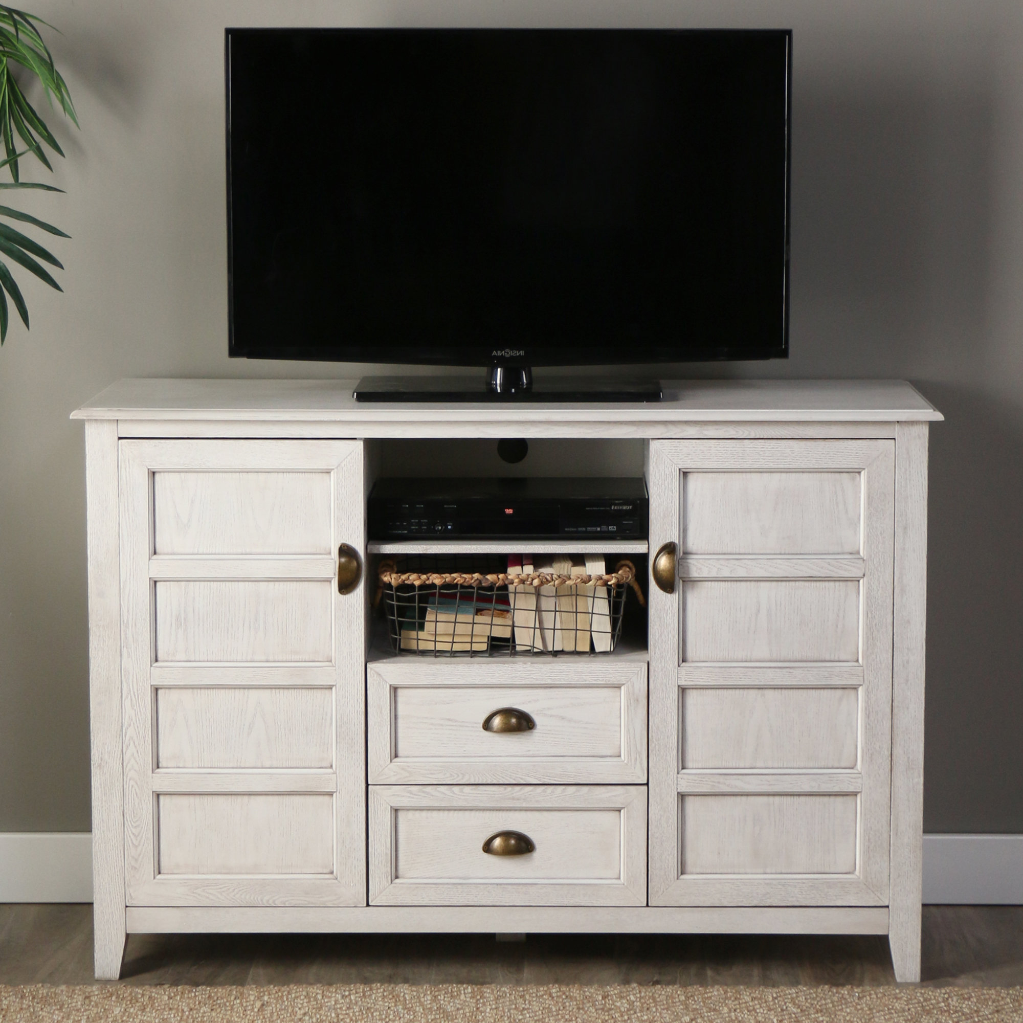 "Most Current Stylish Tv Cabinets Intended For Angelo:home Chic Tv Stand For Tvs Up To 58"" & Reviews (View 6 of 20)"