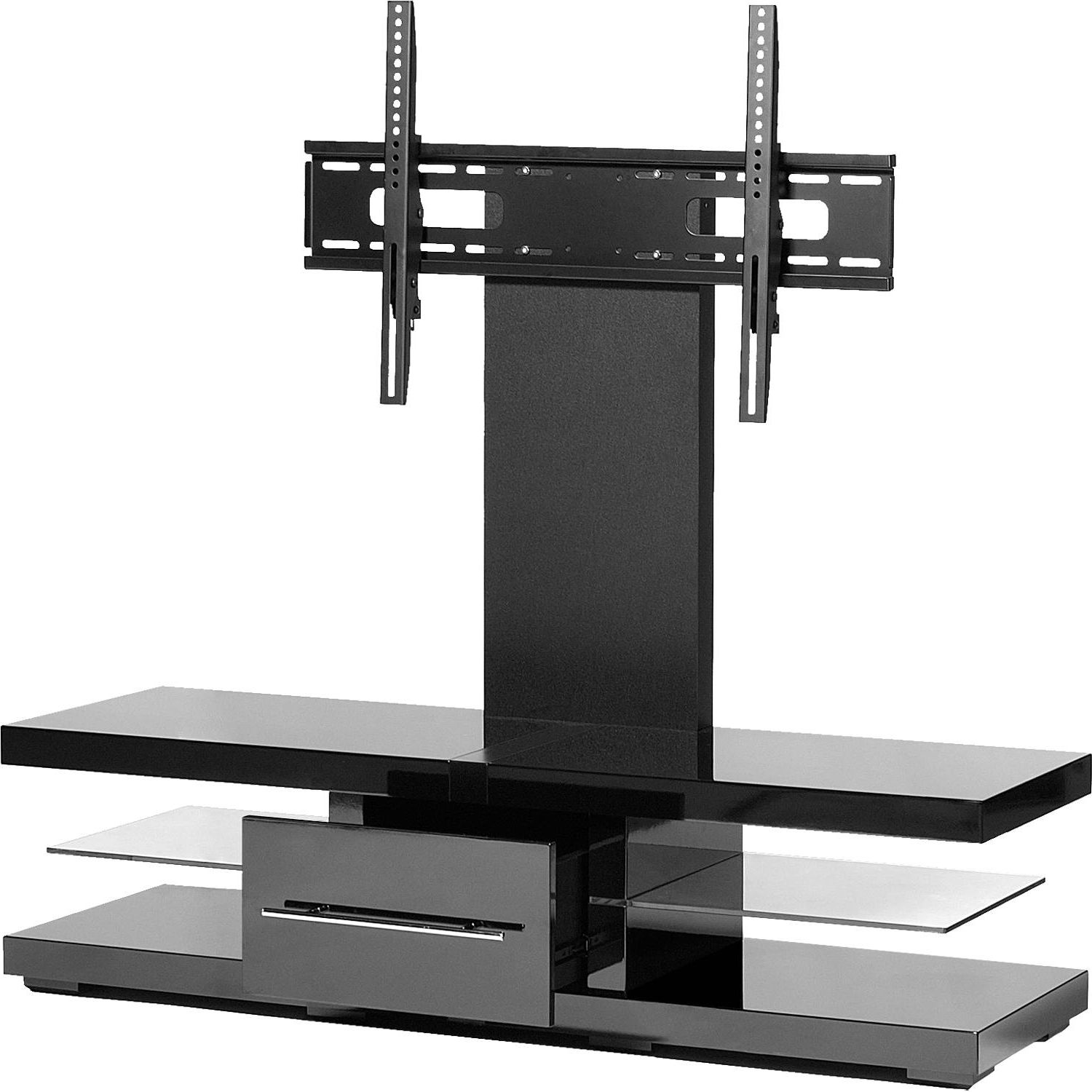 "Most Current Techlink Echo Ec130Tvb Tv Stands With Regard To Techlink Echo Ec130Tvb For Up To 60"" Tvs Cable Tv Stand With Bracket (Gallery 3 of 20)"