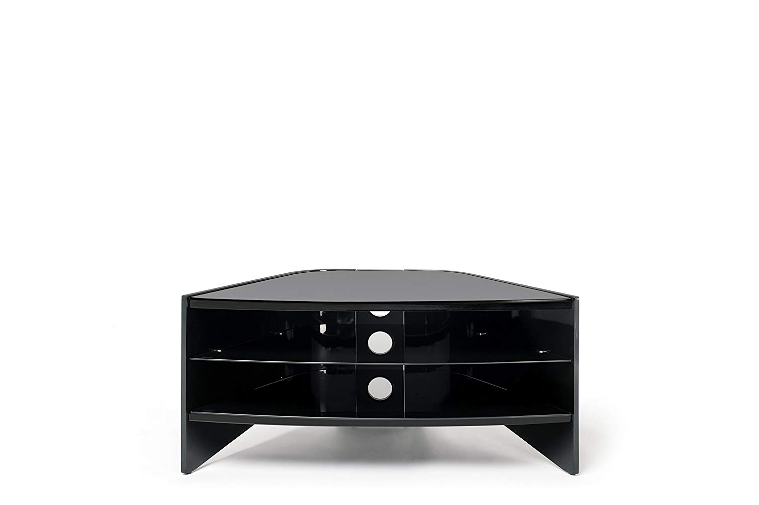 Most Current Techlink Riva Tv Stands Inside Techlink Riva Rv100b Curved High Gloss Black Side Panels And Glass (View 16 of 20)