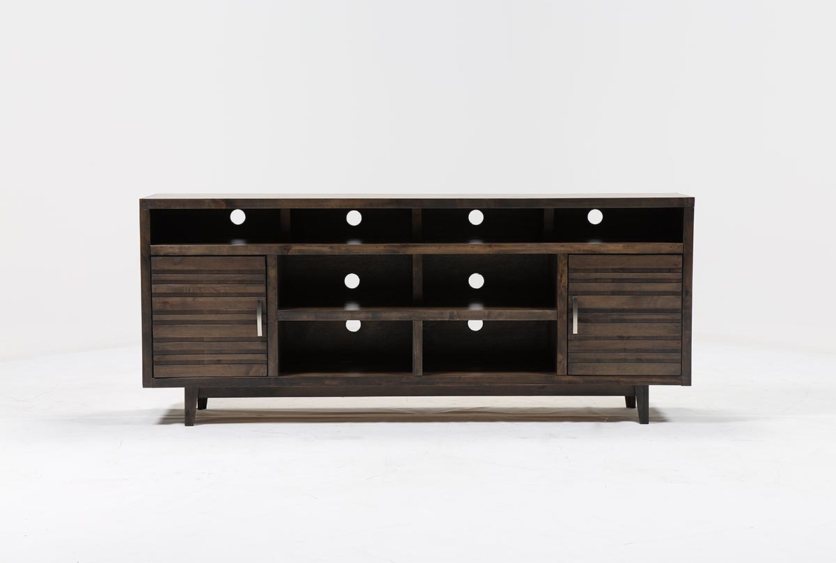 Most Current Thorndale 84 Inch Tv Stand Living Spaces Black Lacquer Console Table Regarding 84 Inch Tv Stands (View 9 of 20)