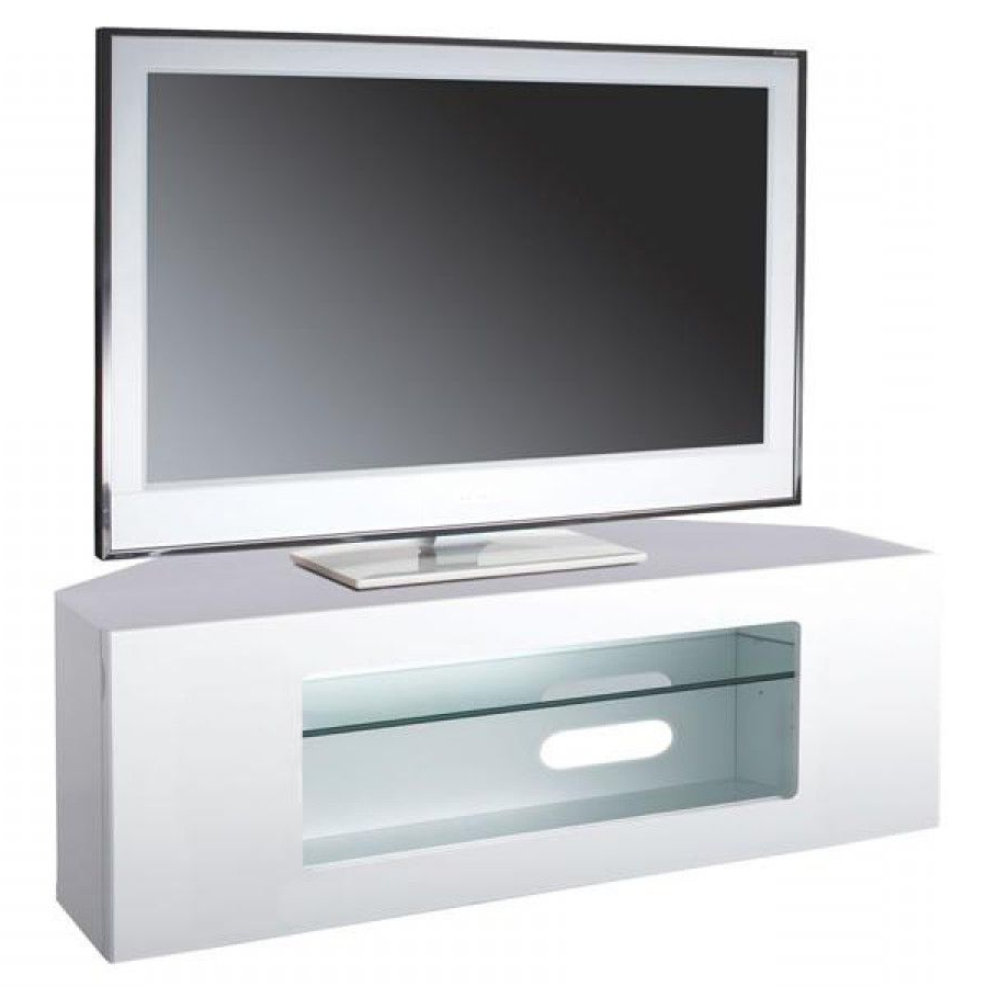 """Most Current White Corner Tv Cabinet For Upto 55"""" Tvs Abrc1100 Wh – Big Av (View 12 of 20)"""