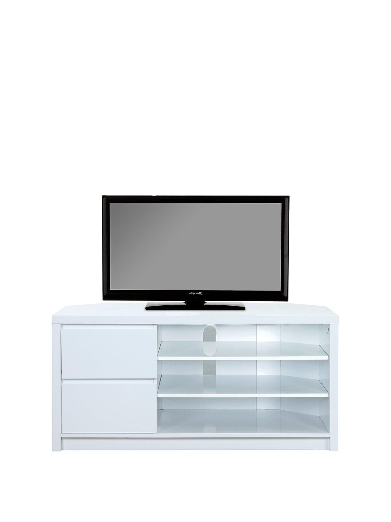 Most Current White Gloss Tv Cabinets Intended For Echo Tall High Gloss Corner Tv Unit – Fits Up To 65 Inch Tv (View 9 of 20)
