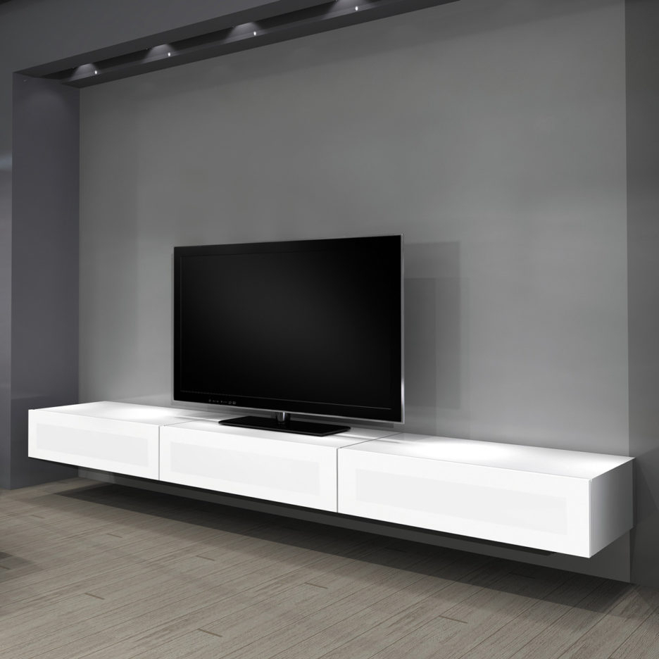 Most Current White Painted Tv Cabinets In Furniture: Wall Shelves Design Tv Shelving Units With Tv Wall Mount (View 8 of 20)