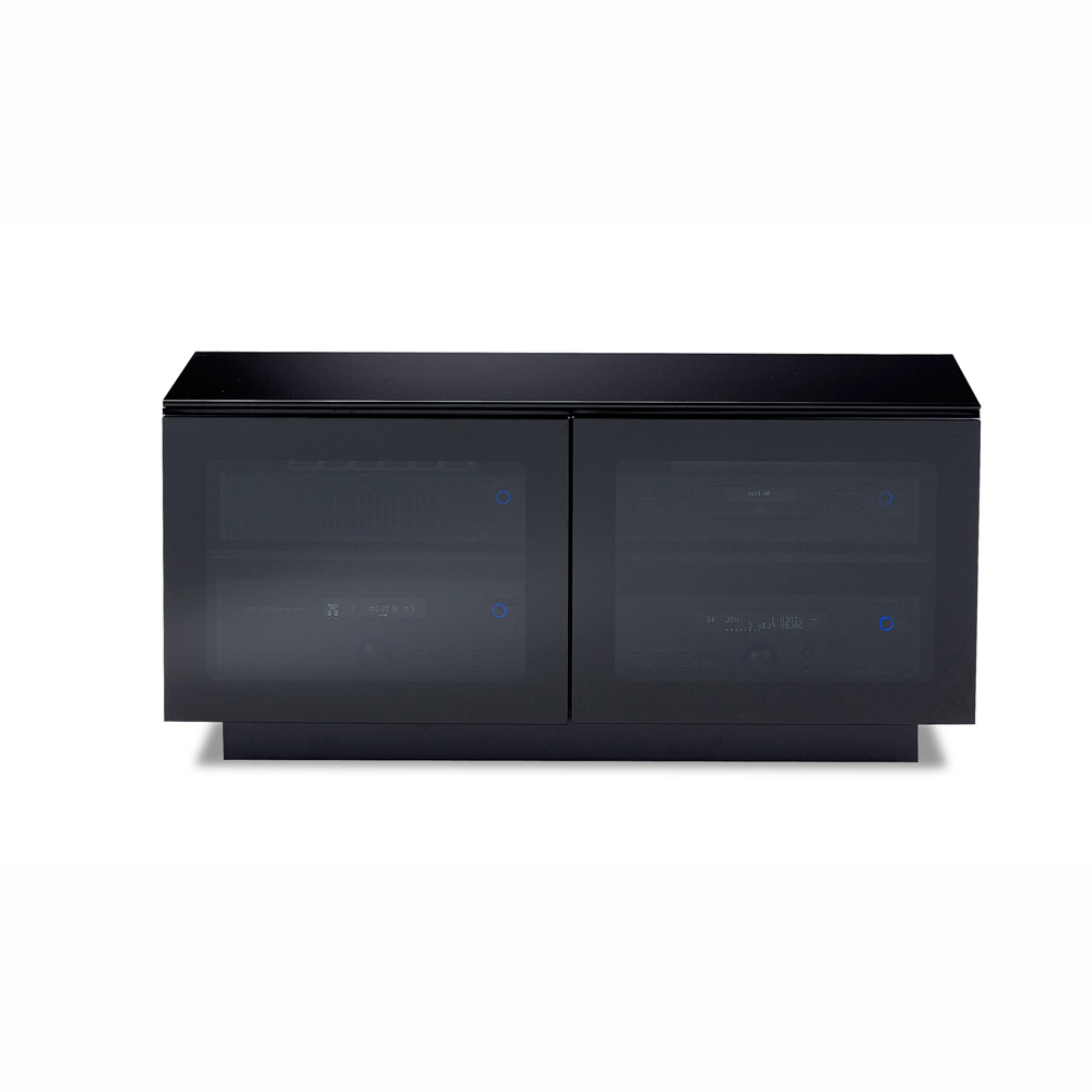 Most Popular Bdi Mirage 8224 Black Small Tv Cabinet – Bdi – Audiovisual Online Regarding Small Black Tv Cabinets (View 1 of 20)