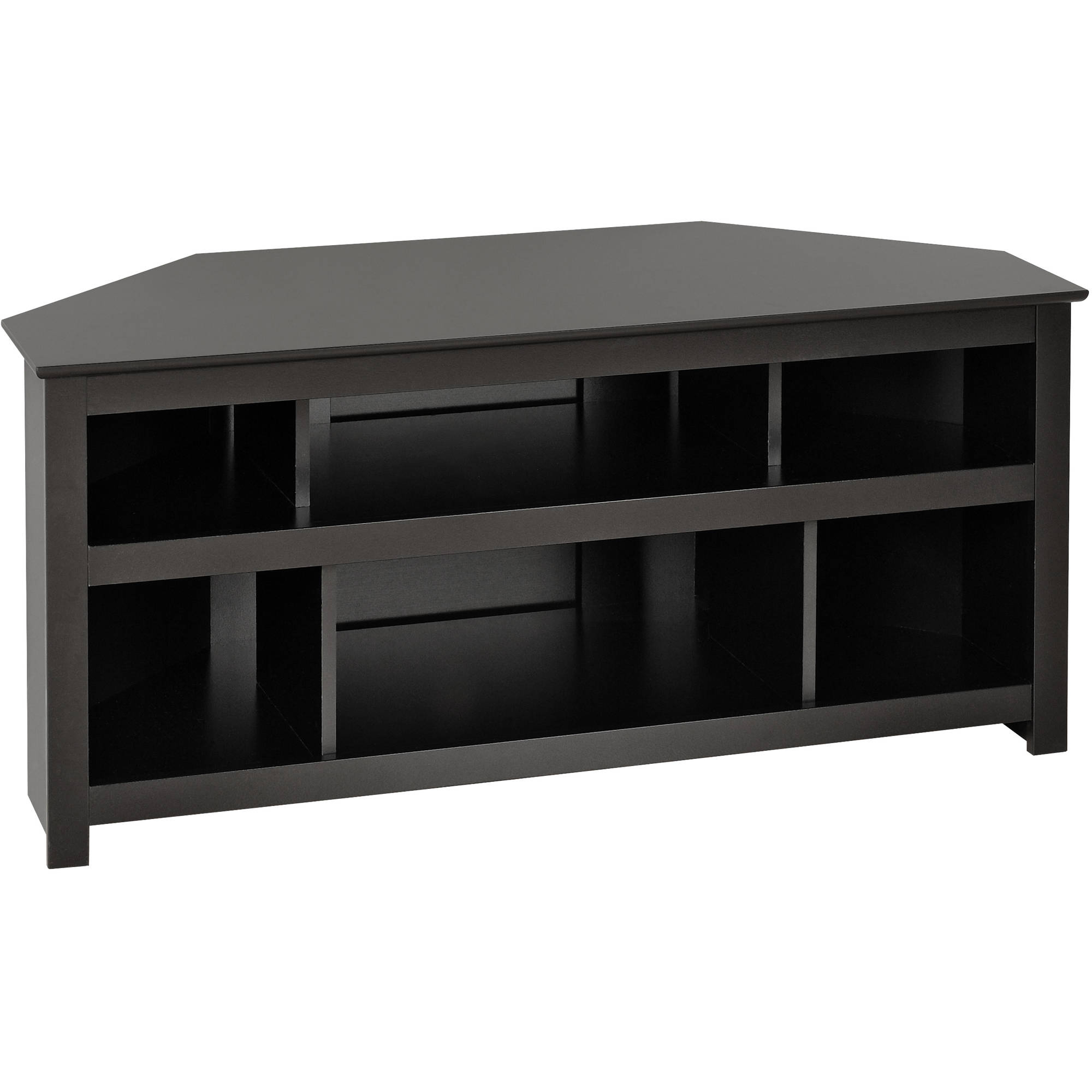 Most Popular Black Corner Tv Cabinets Throughout Tv Stand With Mount Corner Stands Wood Armoire Flat Panel Fireplace (View 13 of 20)