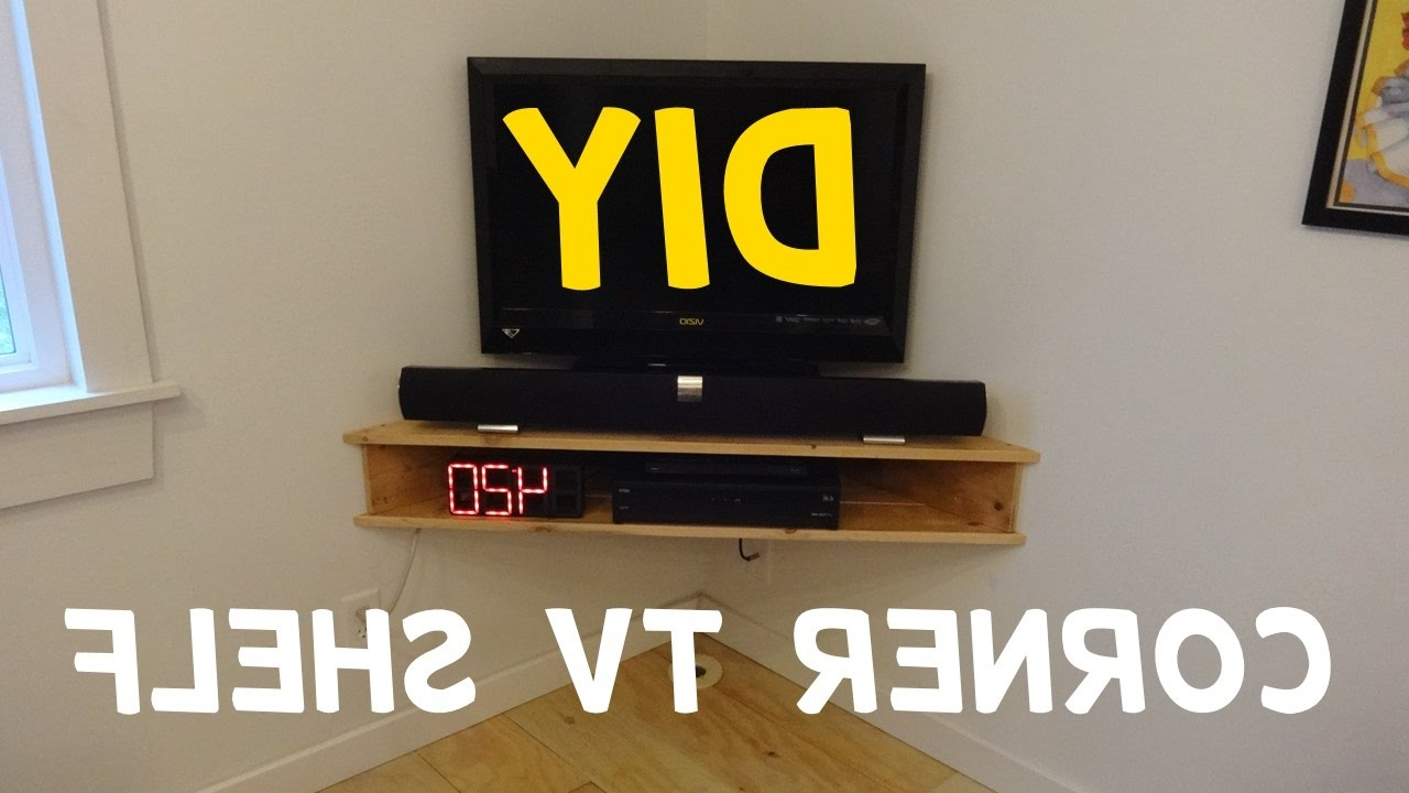 Most Popular Build This Floating Corner Tv Stand! – Youtube Inside Triangular Tv Stands (View 17 of 20)