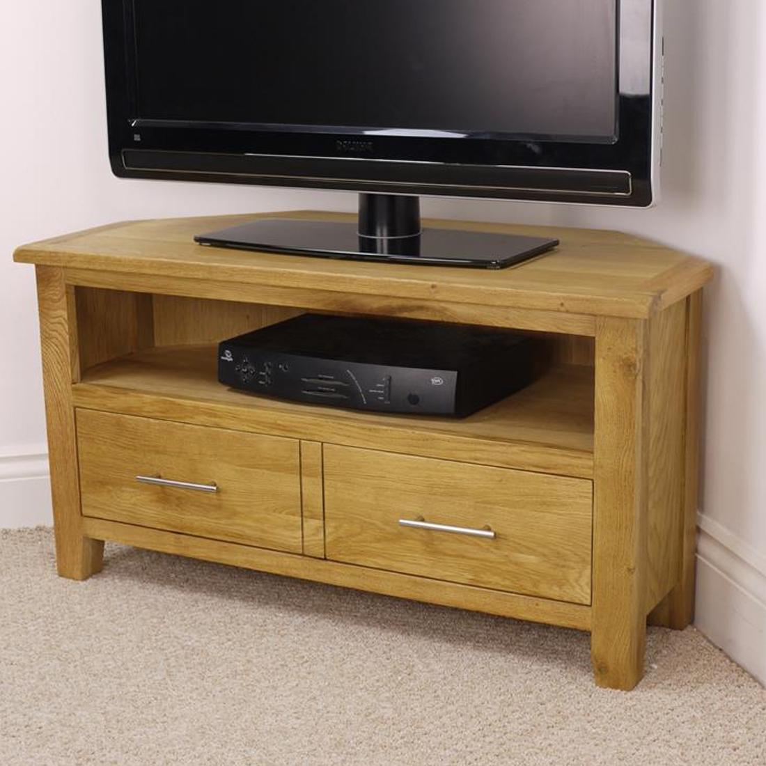 Most Popular Corner Tv Stand Oak Effect – Corner Designs Intended For Oak Effect Corner Tv Stand (View 4 of 20)