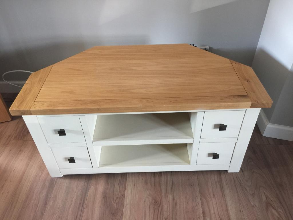 Most Popular Cream Corner Tv Stands Regarding Henley Tv Stand Stands 70 Cream Wide Standard Dunelm Corner (View 12 of 20)