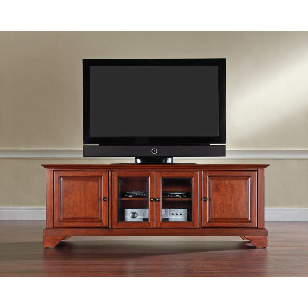 Most Popular Crosley Lafayette Cherry Entertainment Center Kf10005Bch – The Home With Regard To Cherry Tv Stands (View 11 of 20)