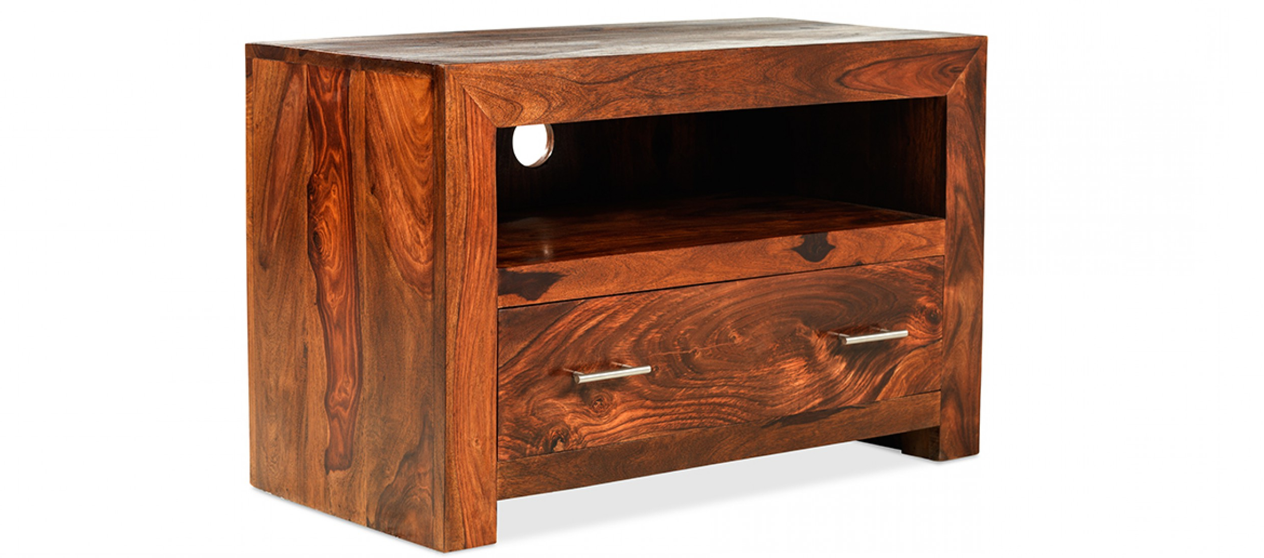 Most Popular Cube Sheesham Square Tv Stand (View 13 of 20)