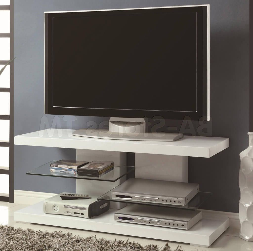 Most Popular Furniture: Unusual White Small Contemporary Tv Stand Featuring Black Regarding Unusual Tv Cabinets (View 4 of 20)