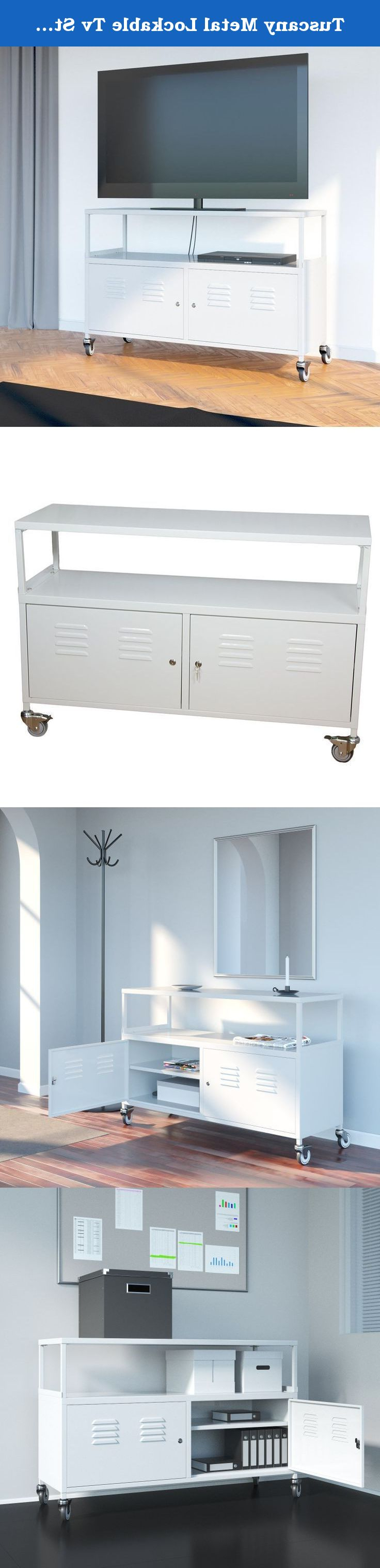 Most Popular Lockable Tv Stands Regarding Tuscany Metal Lockable Tv Stand Cabinet Media Sto… (Gallery 19 of 20)