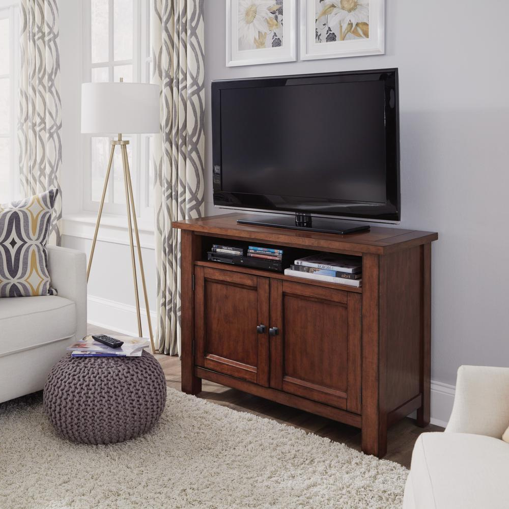 Most Popular Maple Tv Stands For Flat Screens Throughout Home Styles Tahoe Tv Entertainment Stand In Aged Maple 5412 09 – The (View 14 of 20)