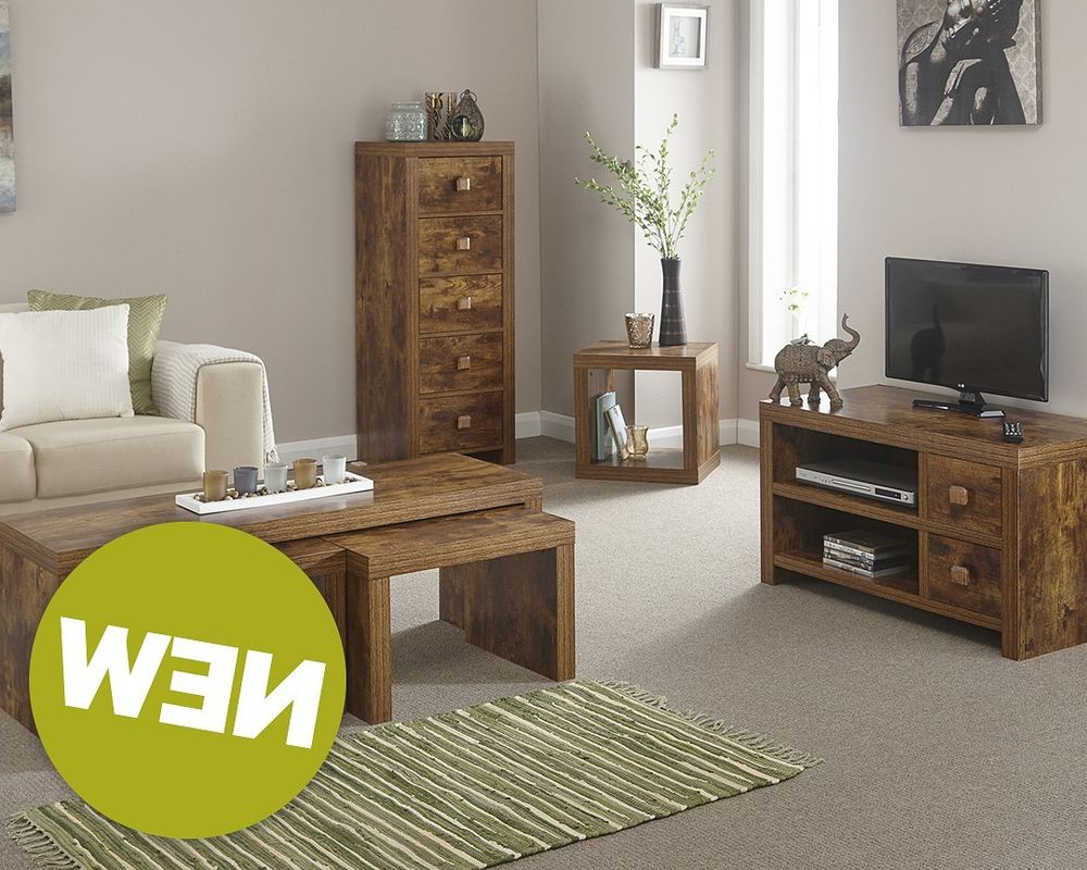 Most Popular Matching Tv Unit And Coffee Tables Pertaining To Designer Matching Wooden Living Room Set – Tv Unit Coffee Table Nest (View 7 of 20)