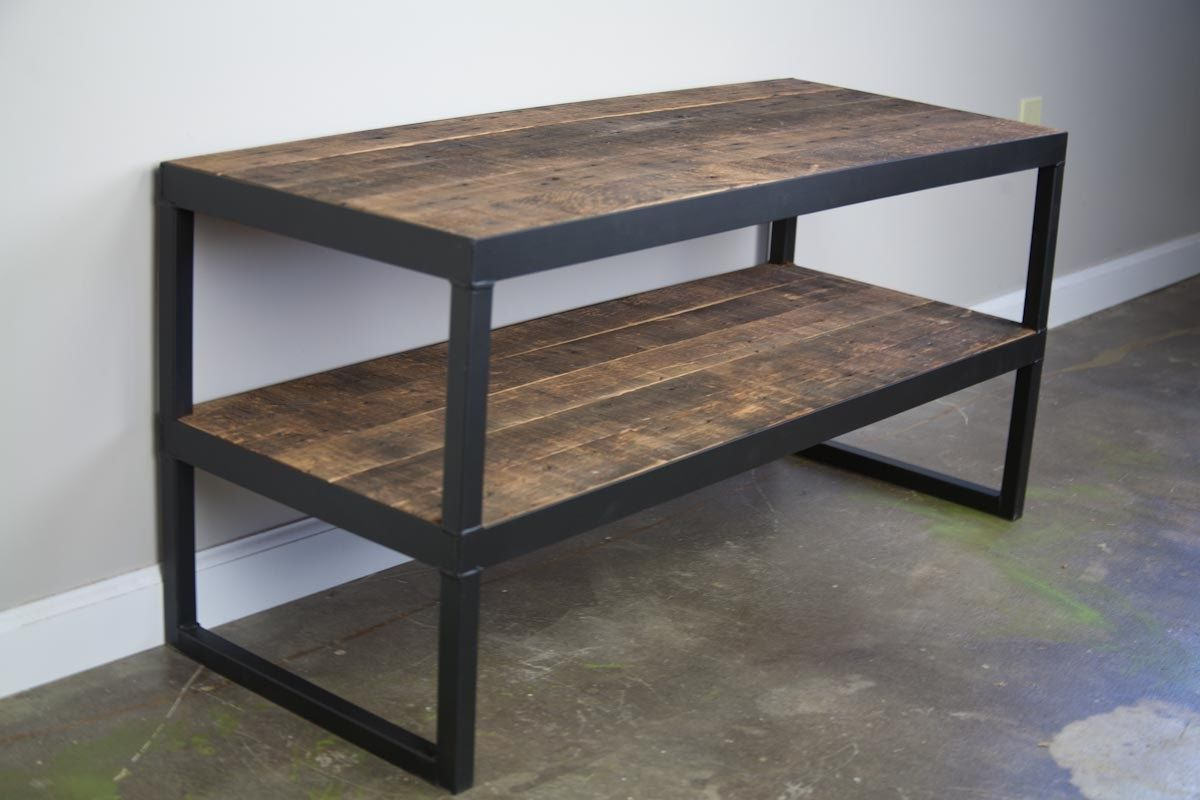 Most Popular Metal And Wood Tv Stands Pertaining To Tv Stand Target Industrial Metal Media Console Silver Rustic (Gallery 12 of 20)