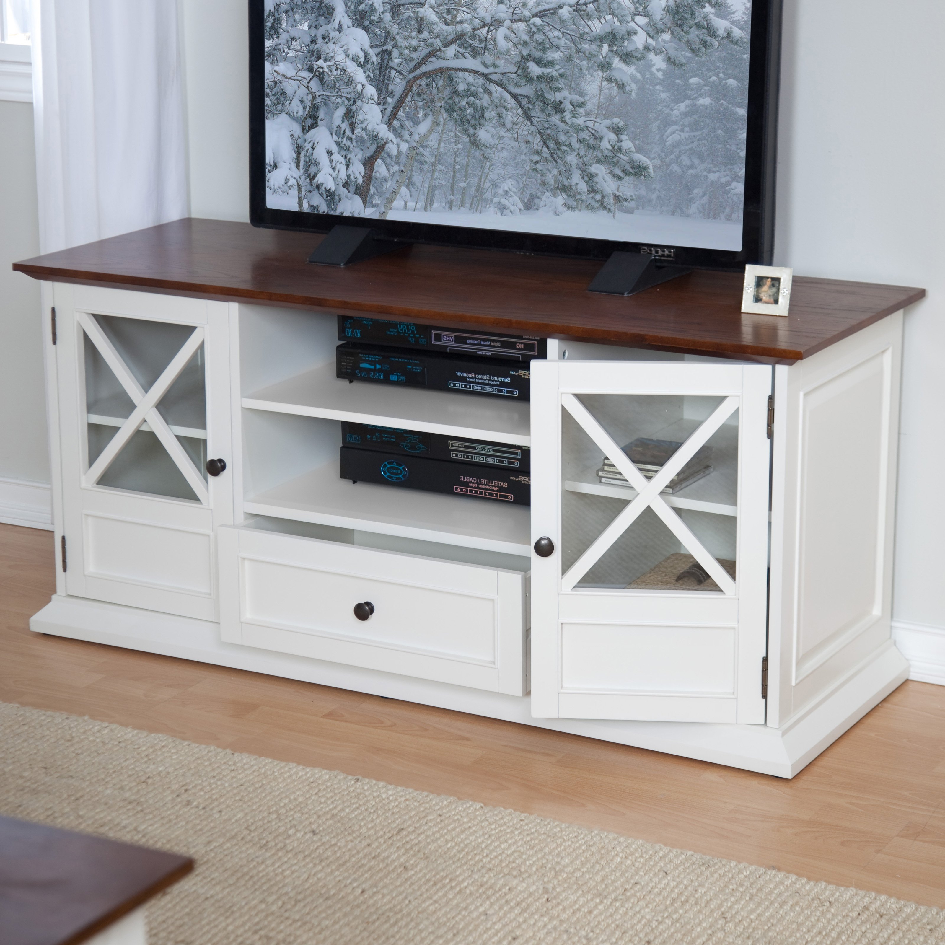 Most Popular Oak Tv Cabinets For Flat Screens Regarding Tv Stands And Entertainment Centers : Flat Screen Tv Stands Oak (View 20 of 20)
