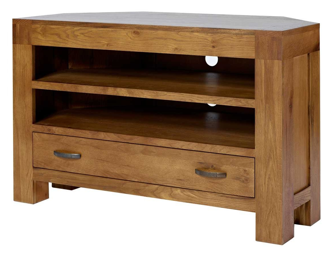 Most Popular Rustic Grange Santana Oak Corner Tv Stand Inspirations Unit Dark In Santana Oak Tv Furniture (View 4 of 20)