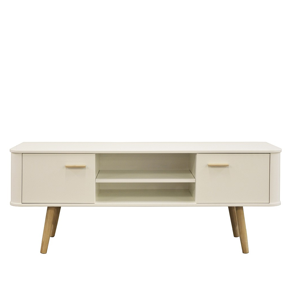 Most Popular Scandinavian Style Wide Tv Cabinet White/oak In Scandinavian Design Tv Cabinets (View 9 of 20)