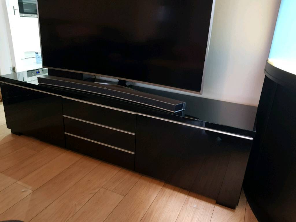 Most Popular Shiny Black Tv Stands With Ikea High Gloss Black Tv Stand Bench (View 4 of 20)
