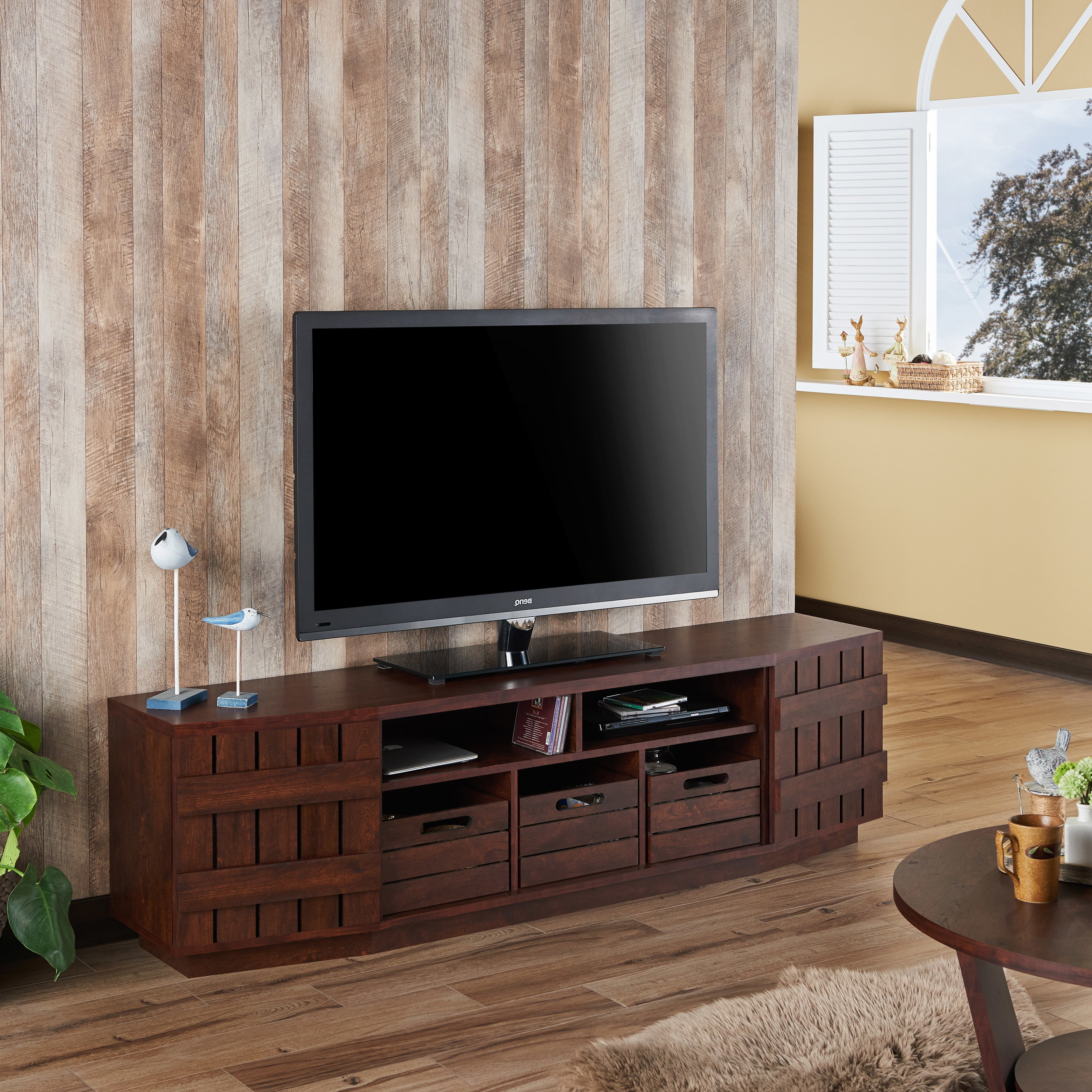 Most Popular Shop Furniture Of America Harla Rustic 70 Inch Tv Stand With In Casey Umber 54 Inch Tv Stands (View 14 of 20)