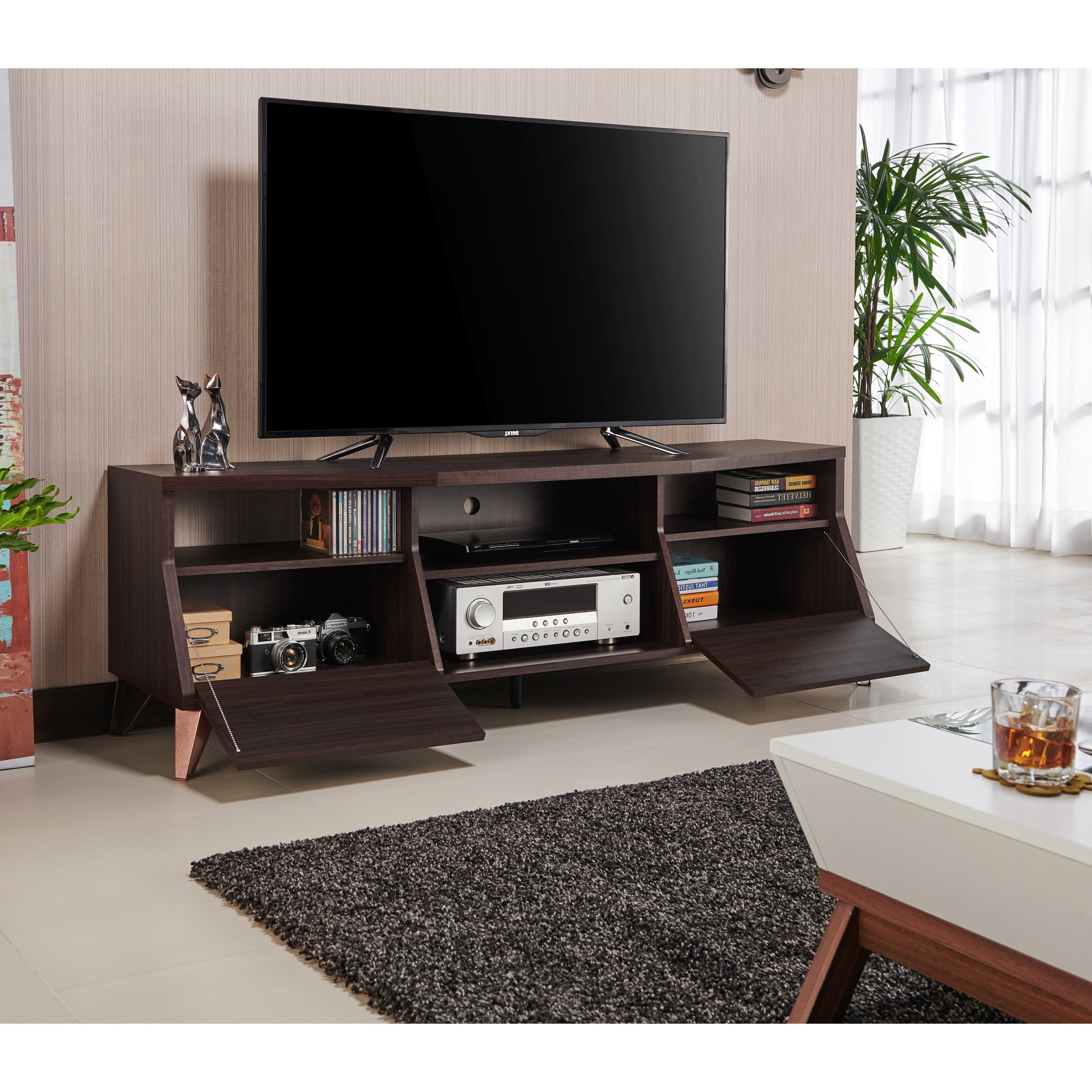 Most Popular Shop Furniture Of America Taliyah Contemporary Glam 63 Inch Tv Stand With Regard To Kai 63 Inch Tv Stands (Gallery 19 of 20)