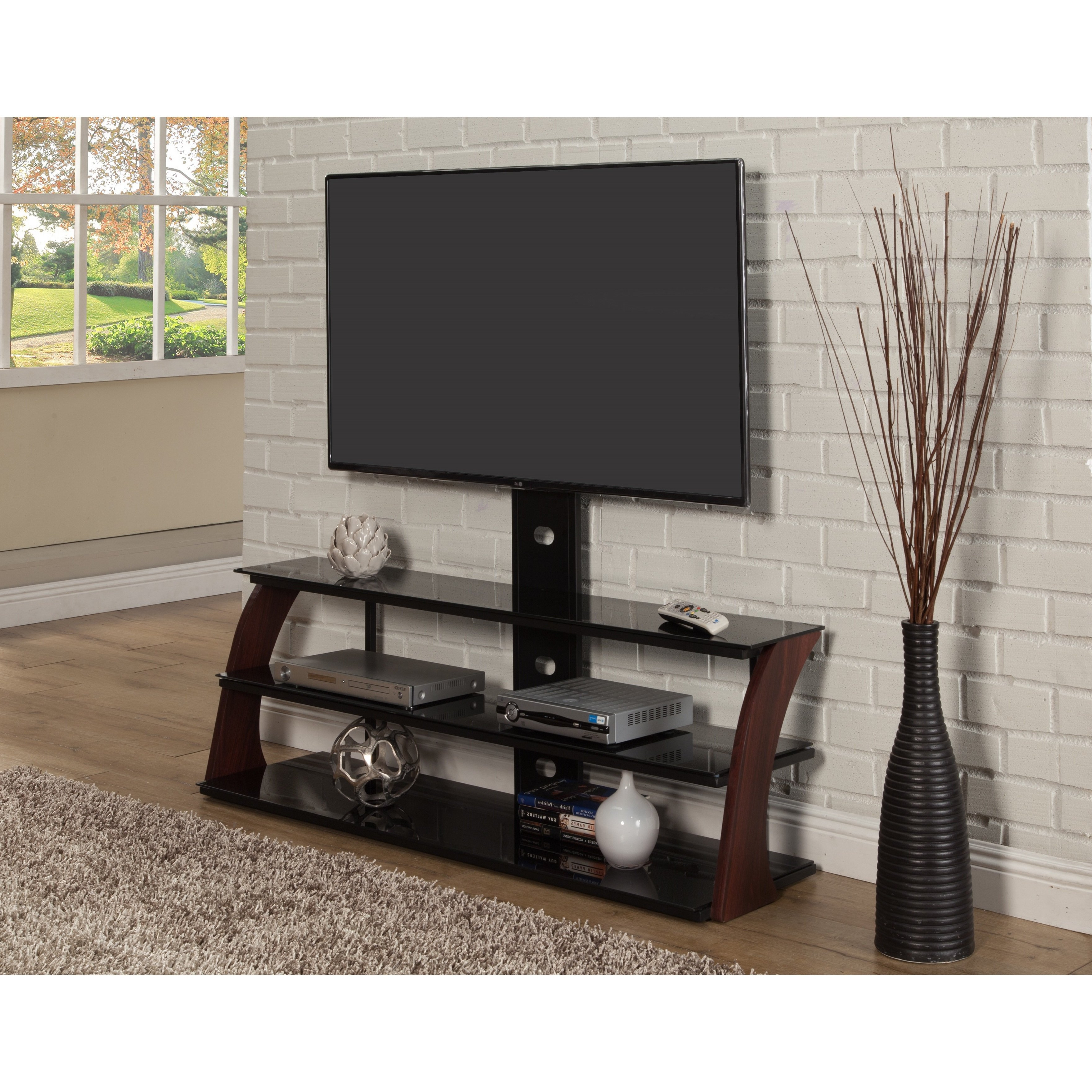 Most Popular Shop Sandberg Furniture Abigail Black Tv Stand – Free Shipping Today For Walters Media Console Tables (View 7 of 20)