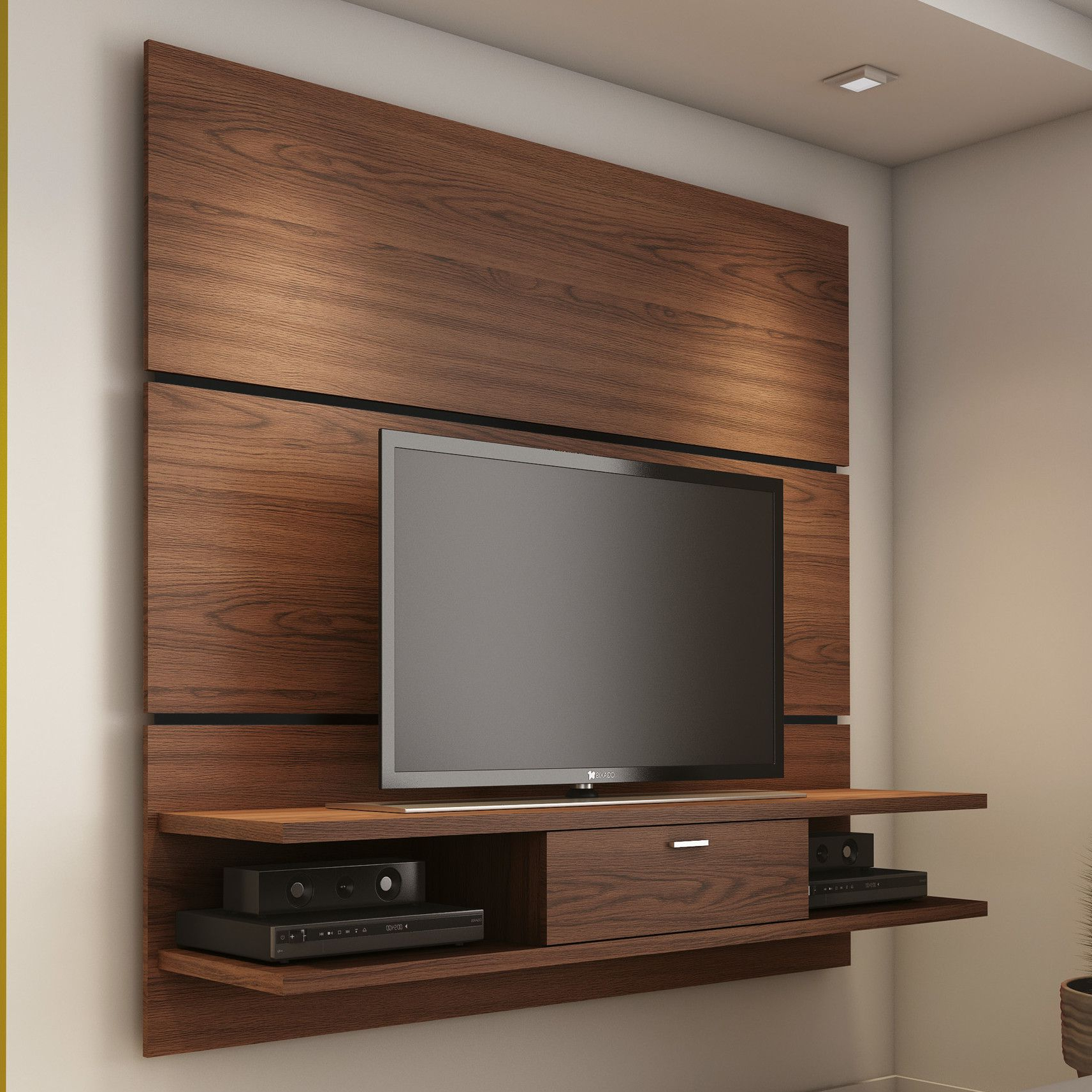 Most Popular Small Bedroom Tv Unit Wooden Wall Mounted Tv Stand For Bedroom In With Regard To Stylish Tv Cabinets (View 7 of 20)